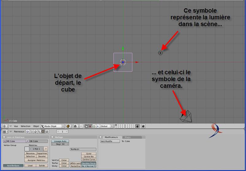 scène 3D Blender