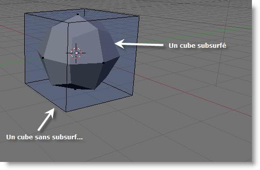 Un cube de base... et à l'interieur son homologue subsurfé