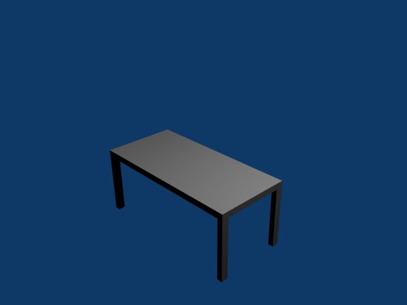 Le rendu de la table